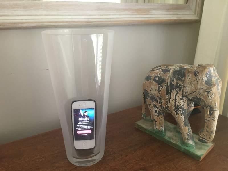 iPhone dans un vase