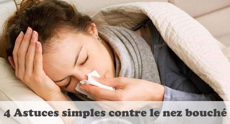 Astuces contre le nez bouché