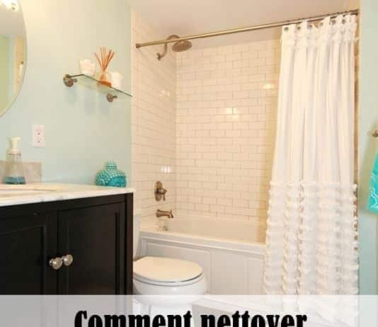nettoyer un rideau de douche en vinyle