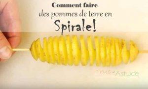 pomme de terre en spirale