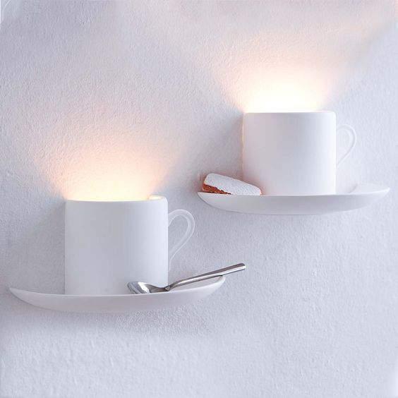 Lampes murales tasses à café