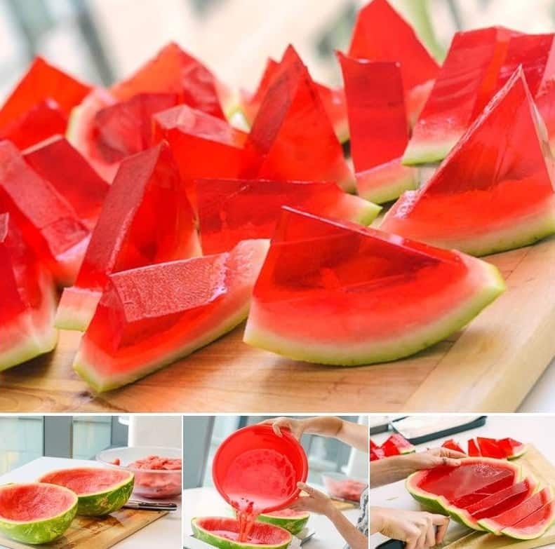Transformer un melon d 39 eau en gel e la vodka - Comment faire murir un melon ...