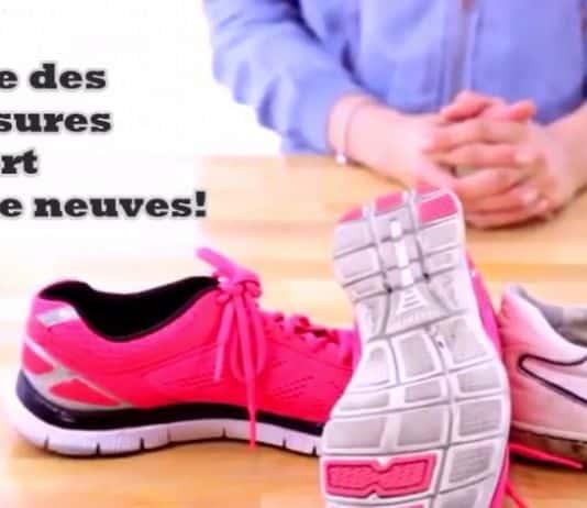nettoyer les chaussures de sport - truc et astuce