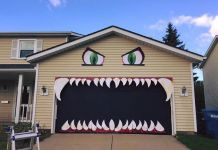 Porte de garage monstre Halloween